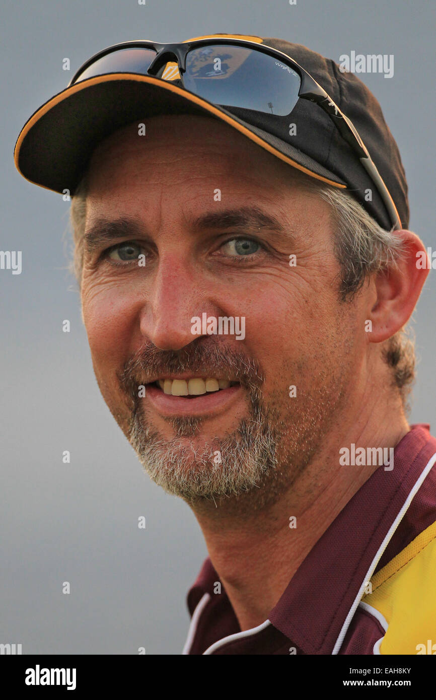 75288c75 Cricket - a portrait of the Australian cricketer Jason Gillespie wearing a  Lashings All Stars baseball cap