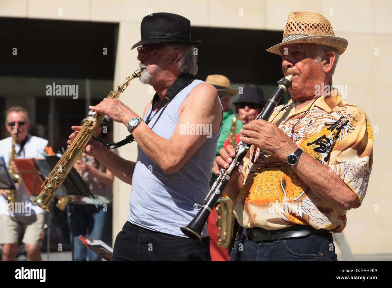 Musicians at the Fête de la Musique, Rouen, France (2014) - Stock Image