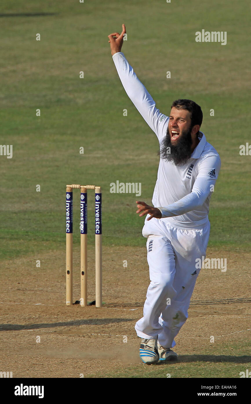 Cricket - Moeen Ali of England celebrates taking a wicket - Stock Image