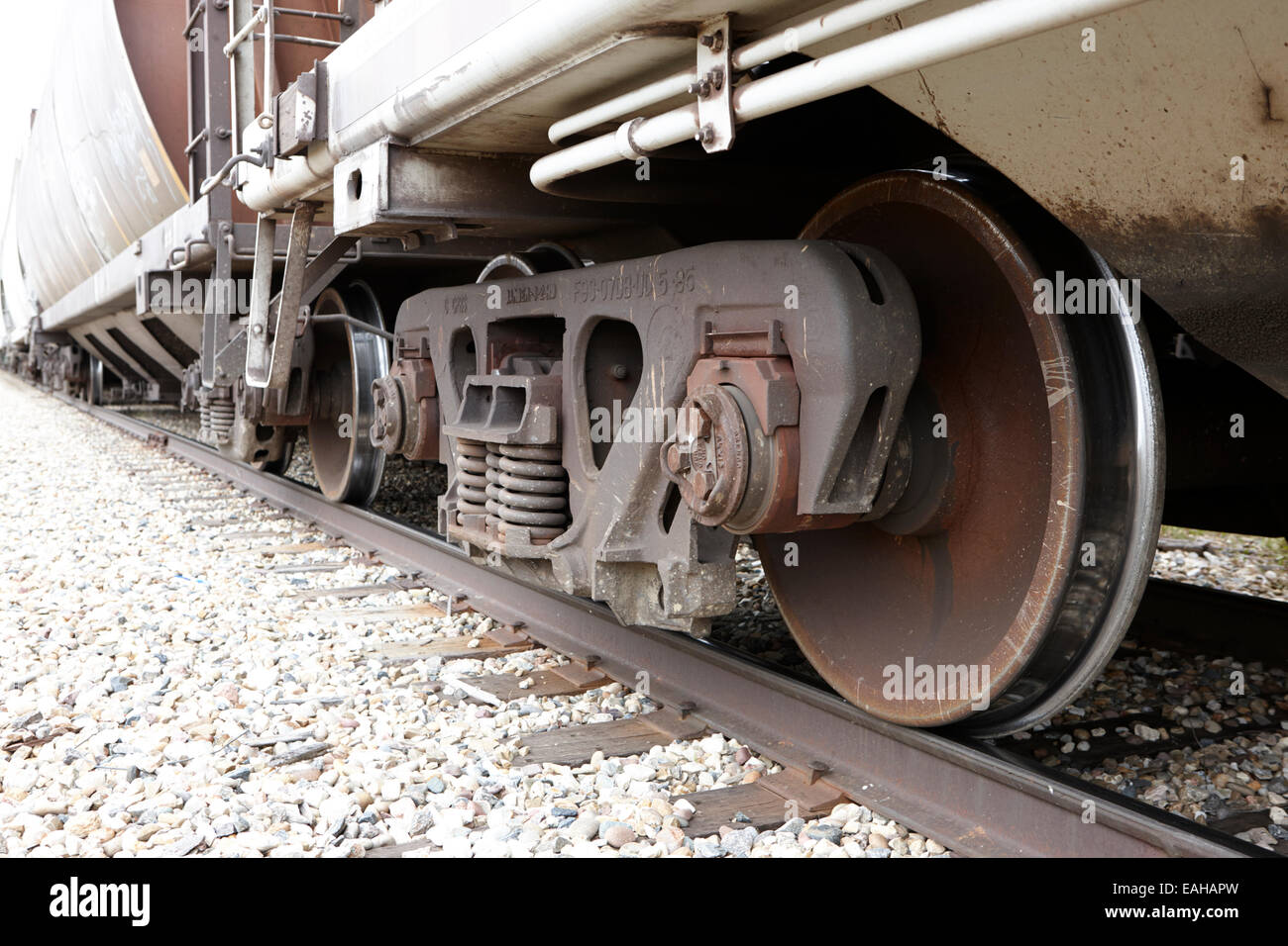 Railroad Car Wheels Stock Photos & Railroad Car Wheels Stock