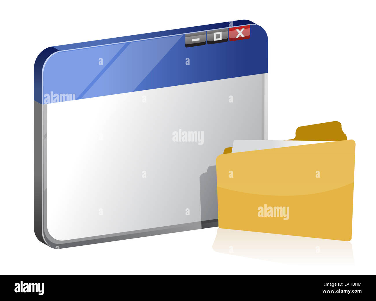 Browser window and folder - Stock Image