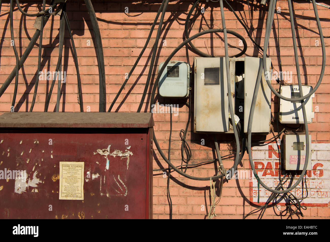 A jumble of wires - Stock Image