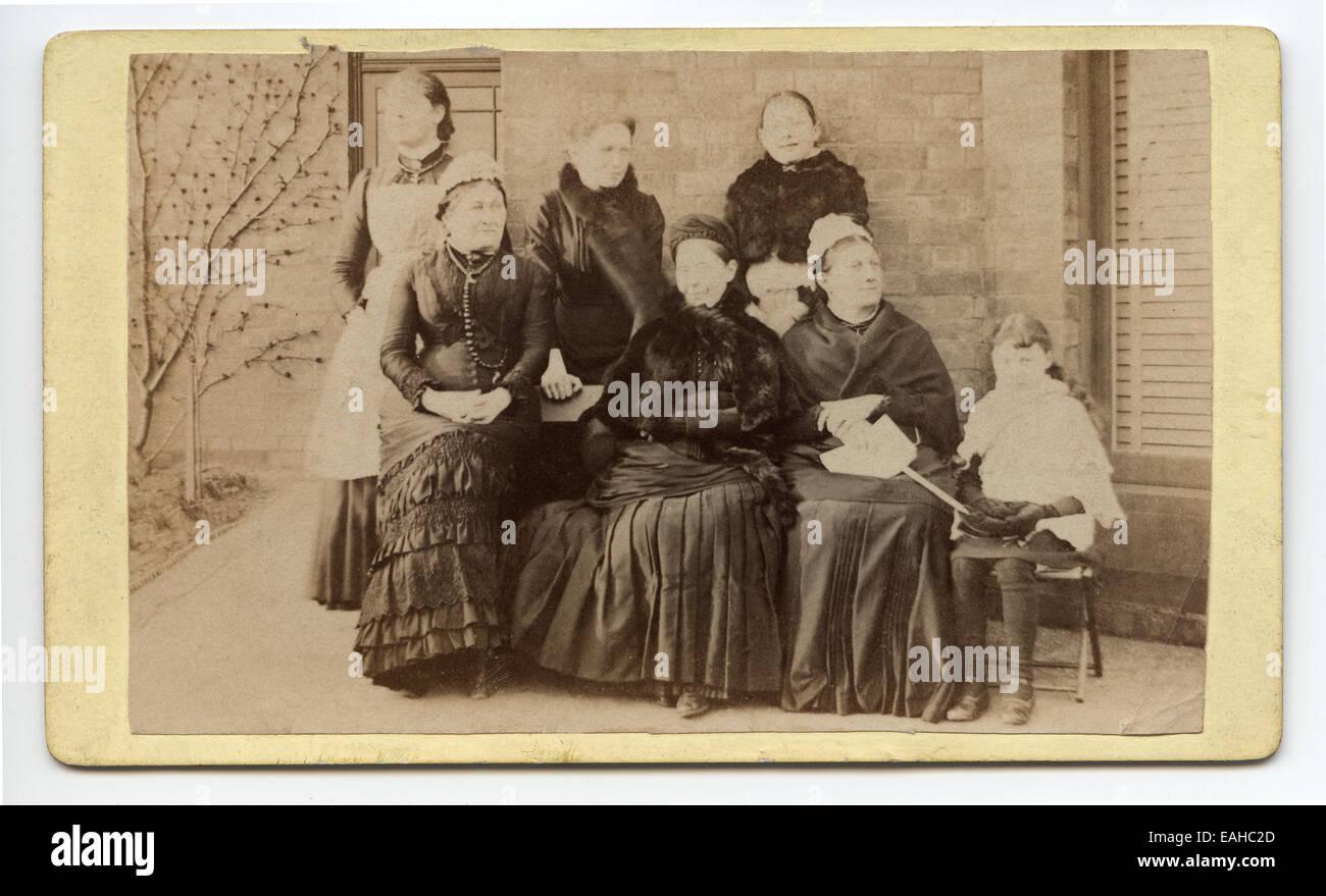 Victorian Carte De Visite Probably A Family Group Portrait Of Women Taken