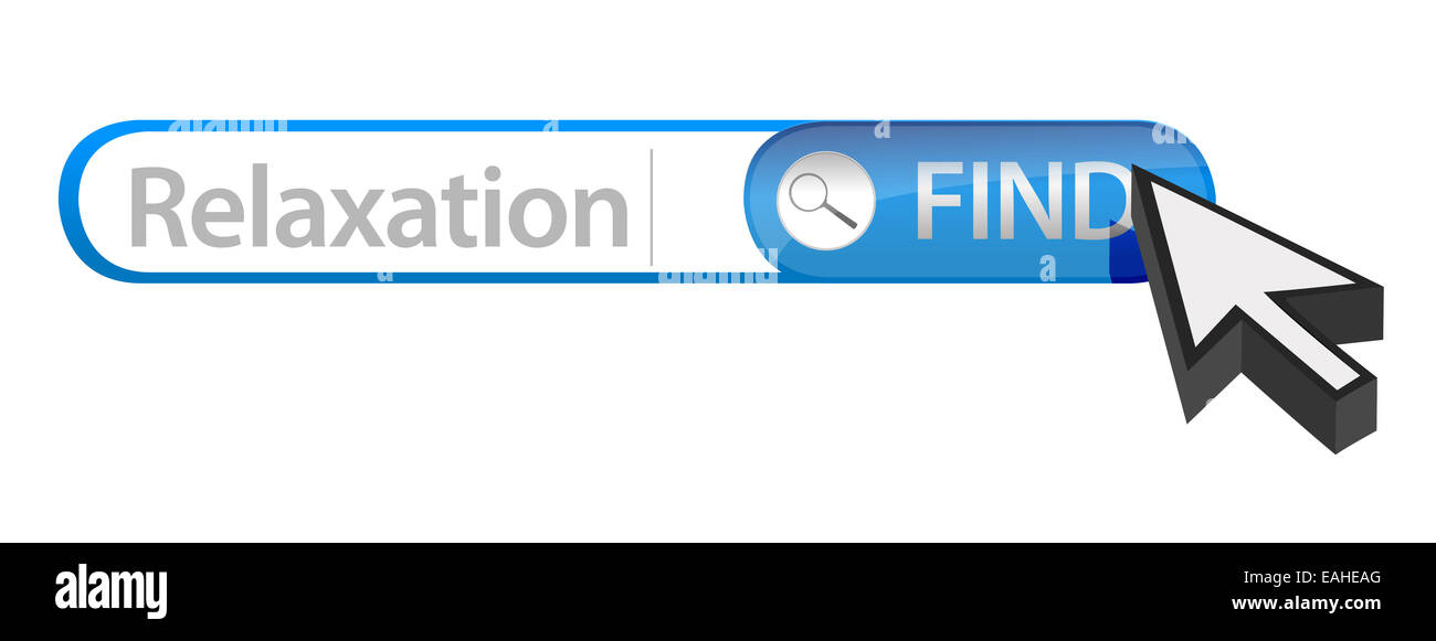 Internet search bar containing a relaxation - Stock Image