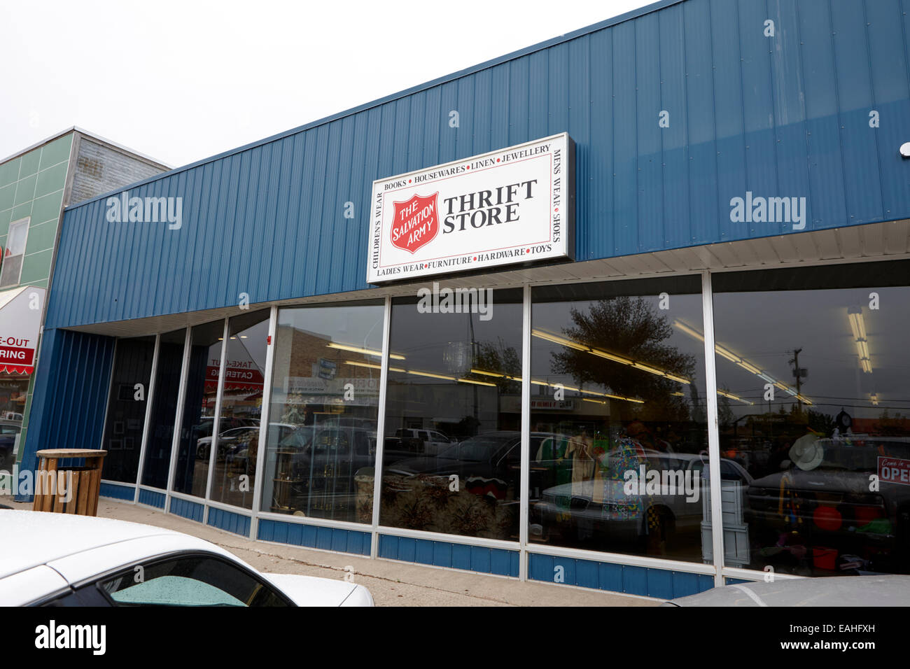 the salvation army thrift store on first street assiniboia sk Canada - Stock Image