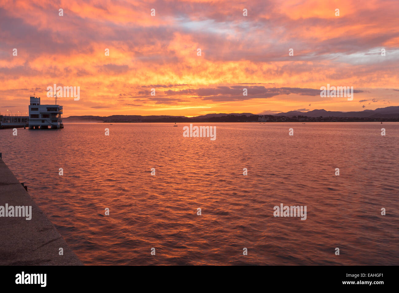 Santander by sunrise. Cantabria, Spain. - Stock Image