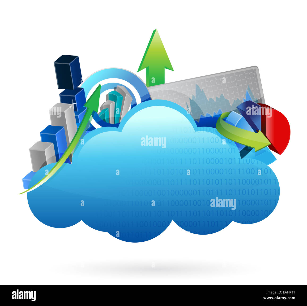 Business financial economy Cloud computing concept - Stock Image