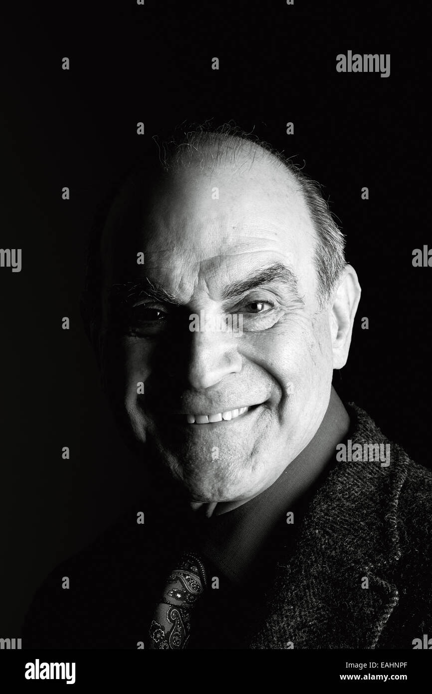 David Suchet at the Oldie Literary Lunch 11-11-14 - Stock Image
