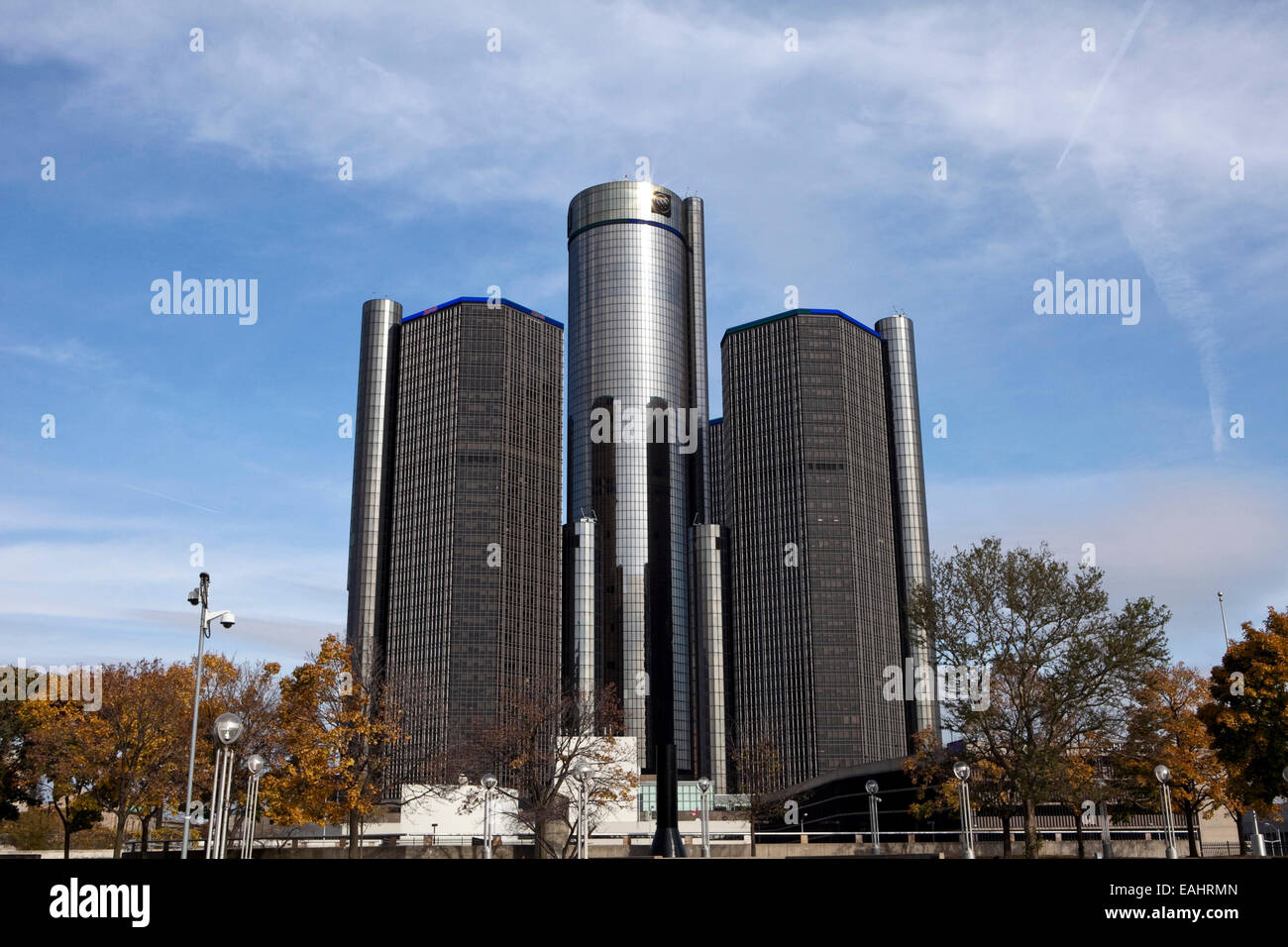 A view of the General Motors headquarters in downtown Detroit - Stock Image