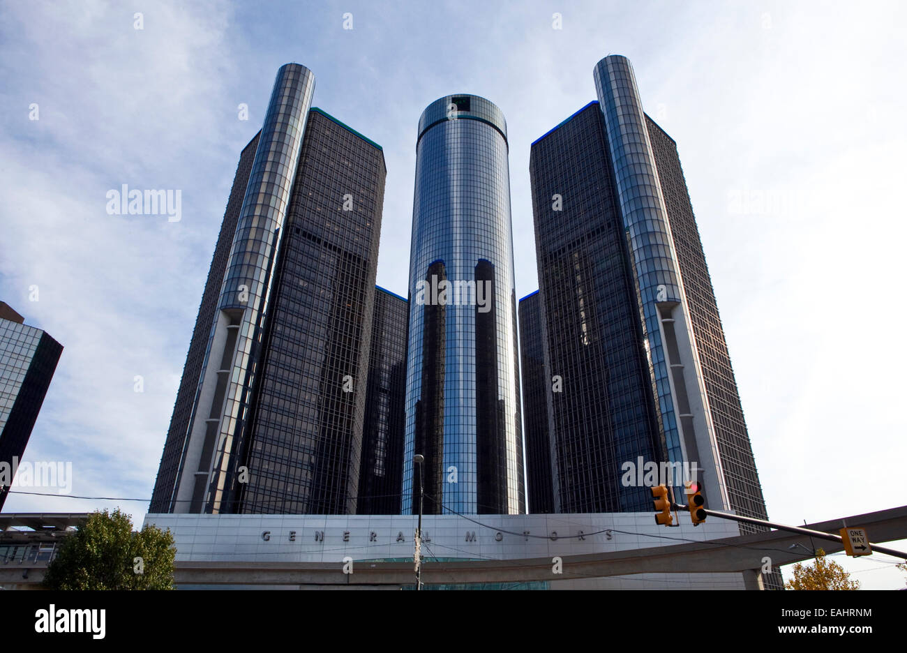 A view of the General Motors headquarters in downtown