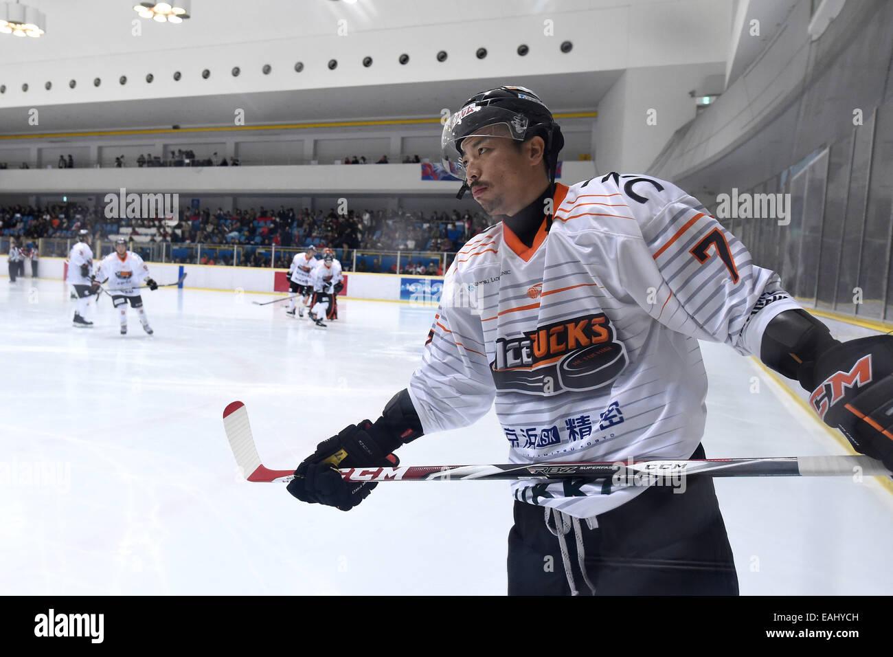 Fukuzawa Naoya (Icebucks), NOVEMBER 15, 2014 Ice Hockey : Asia ...