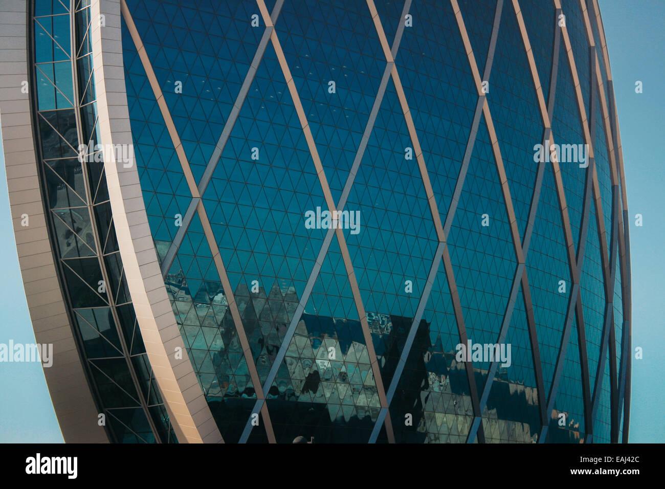 Aldar Headquarters Round Building in Al Raha Gardens, Abu Dhabi, United Arab Emirates - Stock Image
