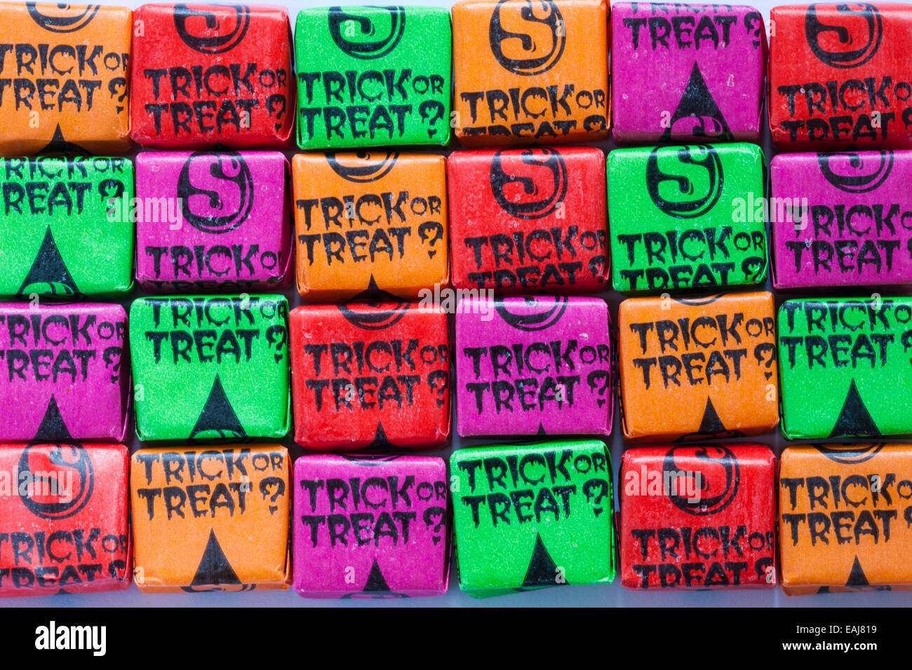 Starburst fruit chews scare edition trick or treat - Stock Image