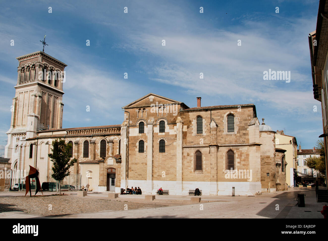 Roman Catholic Diocese of Valence Cathedral France - Stock Image