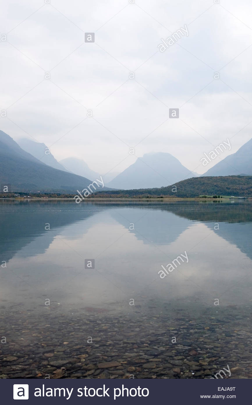 A landscape in Northern Norway - Stock Image
