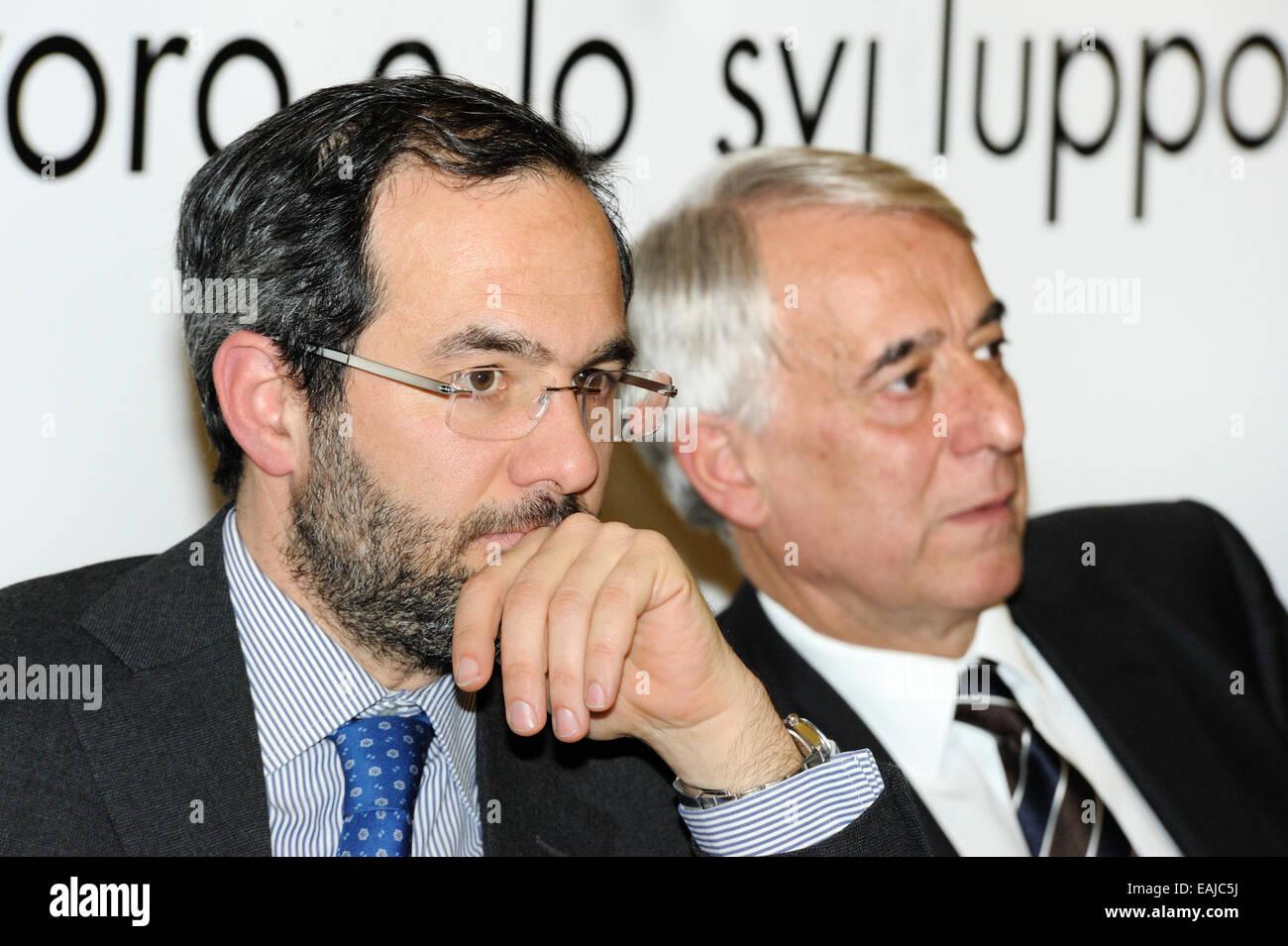 Umberto Ambrosoli e Giuliano Pisapia - Stock Image