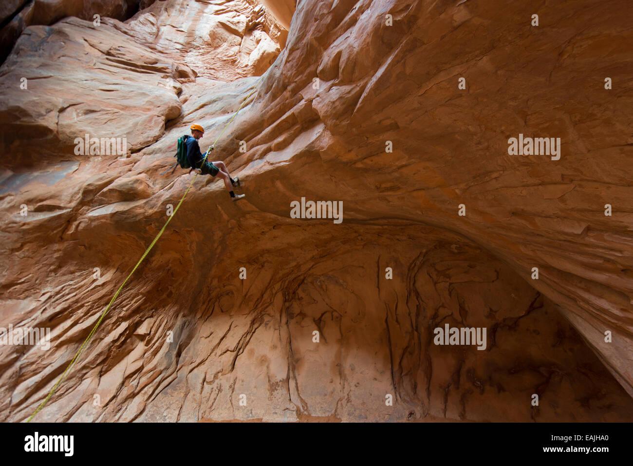Slot canyon near moab utah