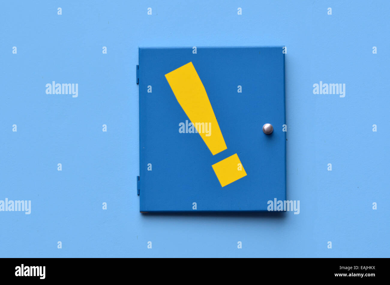 Exclamation mark - exclamation point background.Concept photo of strong feelings. - Stock Image