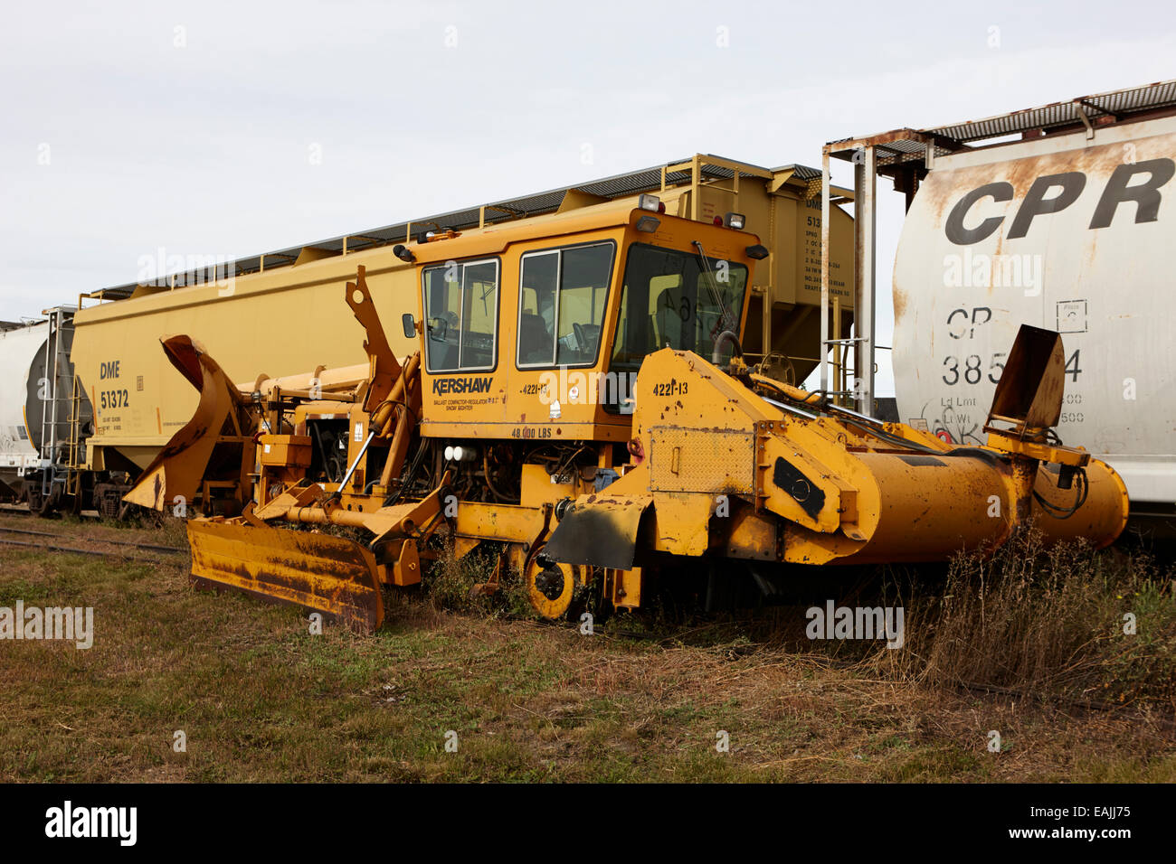 kershaw ballast compactor regulator snow fighter leader Saskatchewan Canada - Stock Image