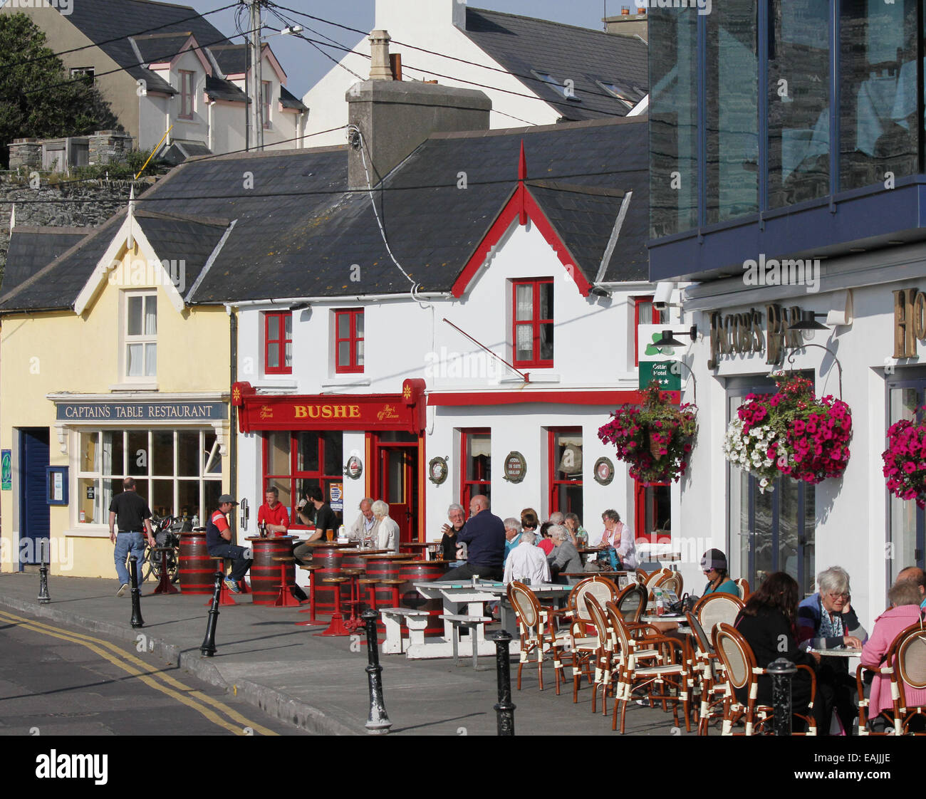 The waterfront above the harbour at Baltimore West Cork County Cork Ireland - Stock Image