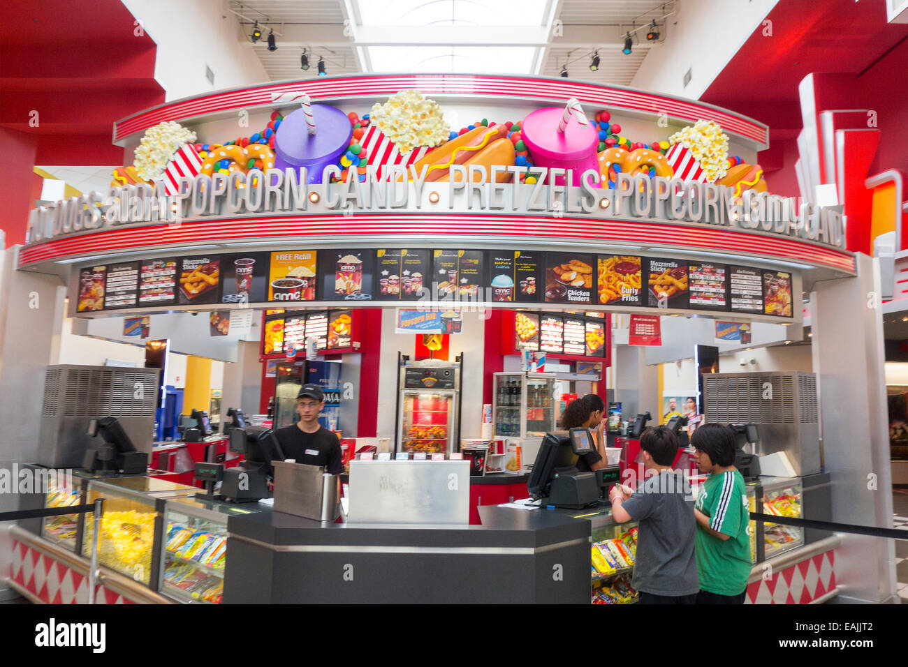 movie theater concession stand Stock Photo