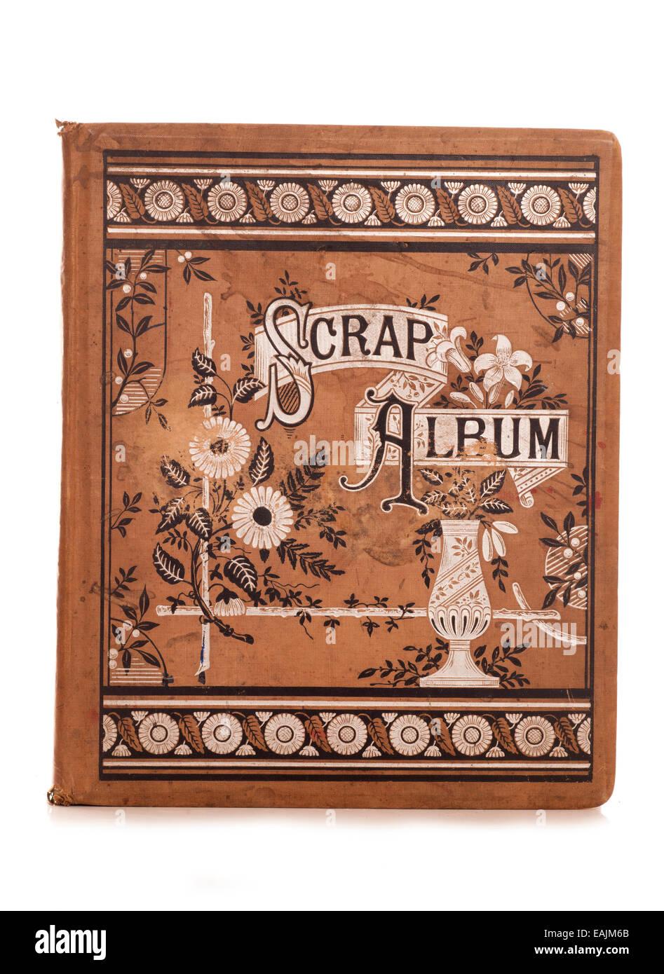 vintage scrap album studio cutout - Stock Image