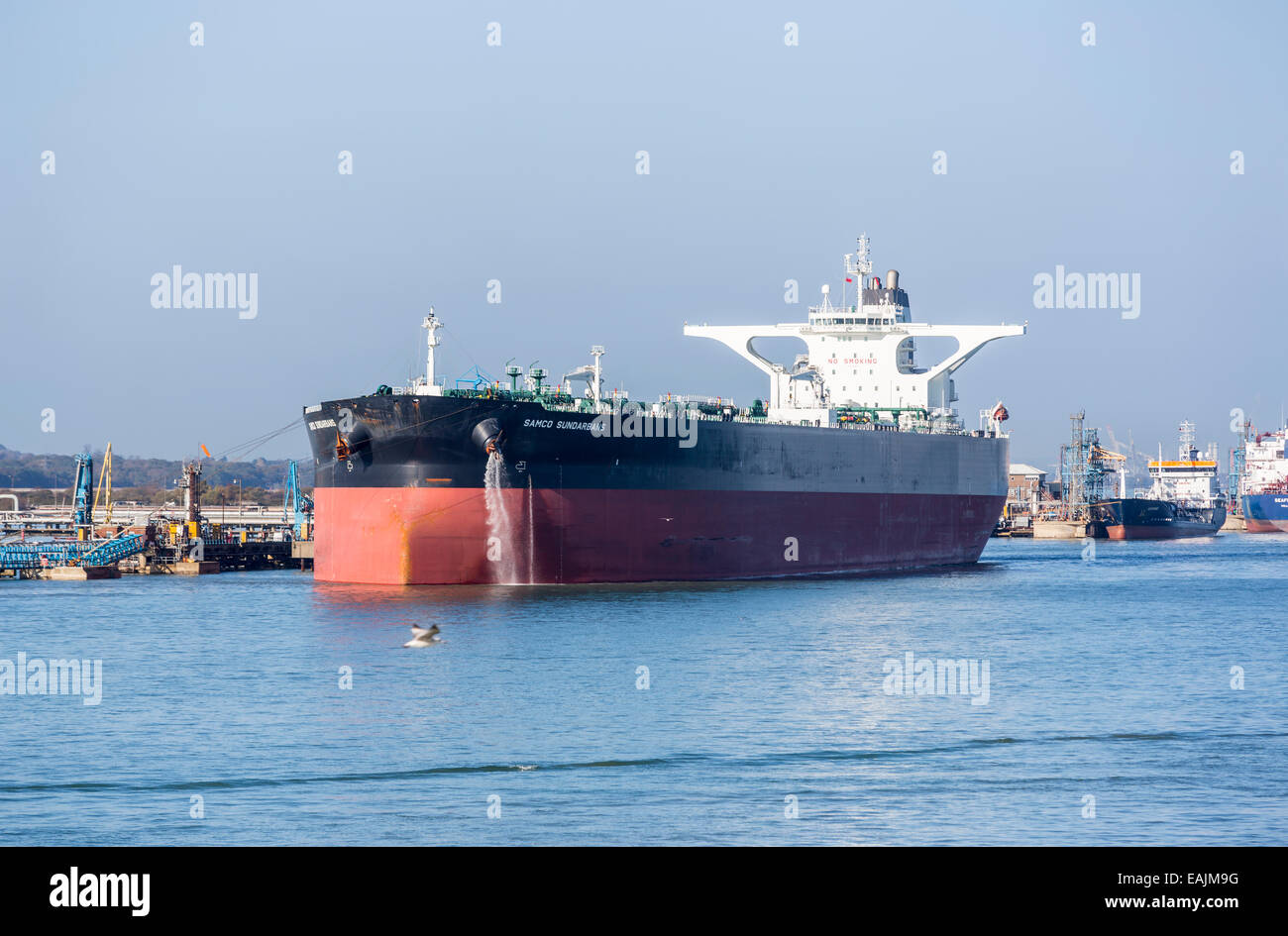 Oil tankers, including 'Samco Sunderbans', moored at the
