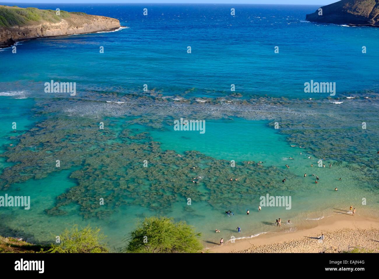 Hanauma Bay Nature Preserve, Oahu, Hawaii - Stock Image