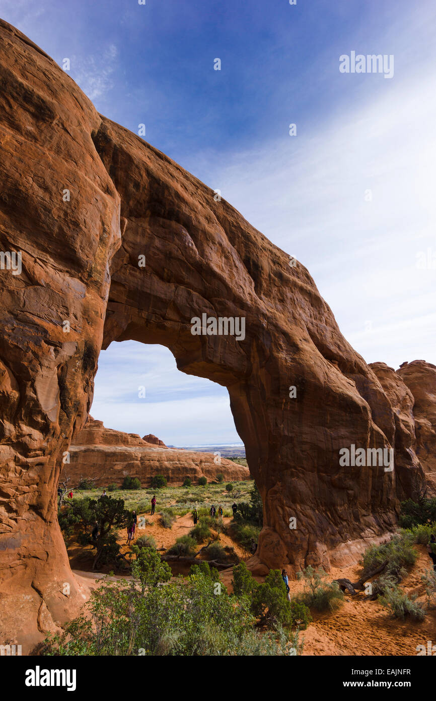Pine Tree Arch. Arches National Park, Moab, Utah, USA. - Stock Image