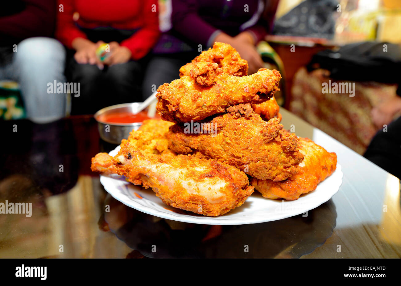 Crispy,Fried,Chicken,Gourmet,fast-food,Meat,Snack,junk-food,non-vegetarian,food,nutritious,isolated - Stock Image
