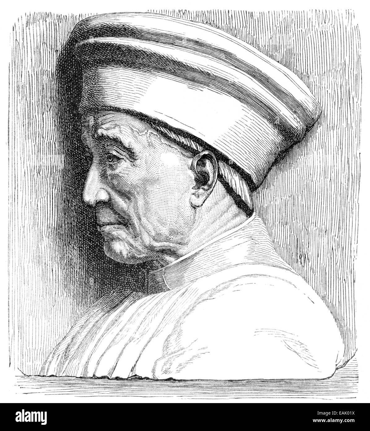 Cosimo the Elder also known as Cosimo de Medici, 1389 - 1464 , Portrait von Cosimo der Alte oder Cosimo de' Medici, - Stock Image