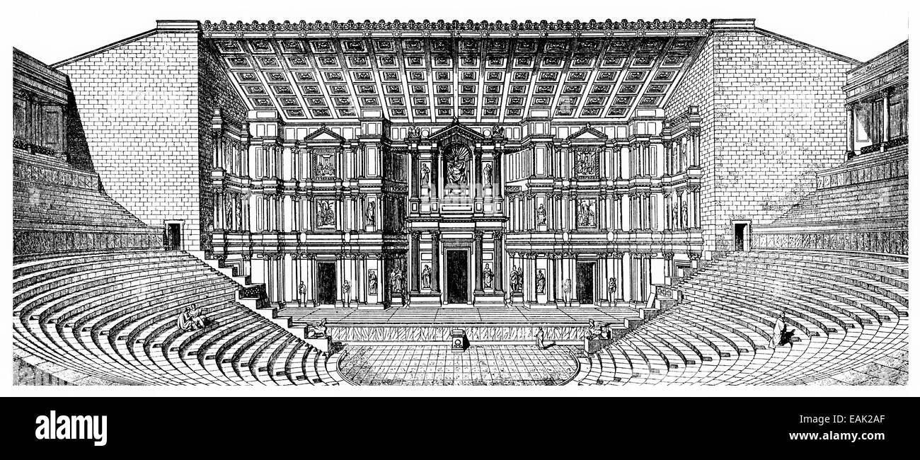 ancient Greek theater, Innenansicht eines antiken griechischen Theaters - Stock Image