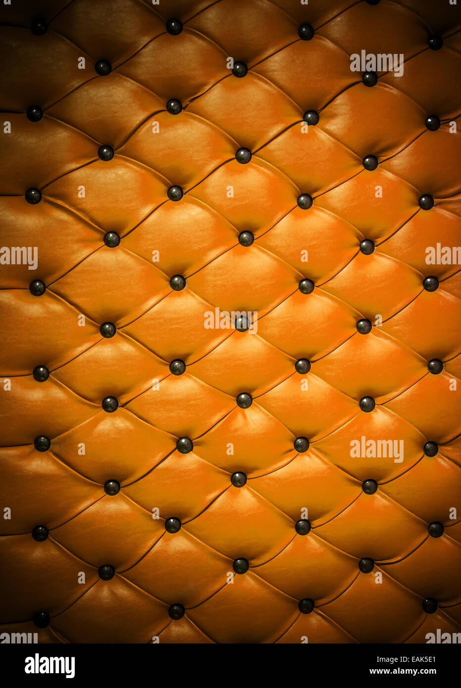 Detail of leather upholstery - Stock Image