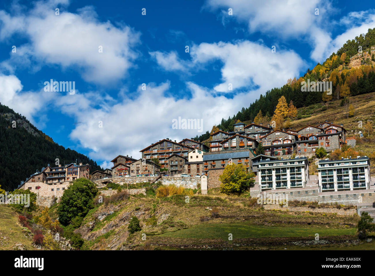 Beautiful mountain in Andorra (Pyreness) - Stock Image