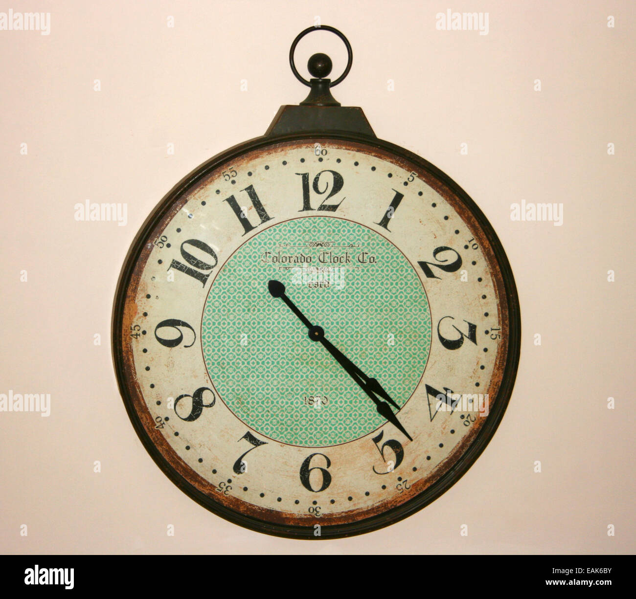 Vintage Wall Clock - Stock Image