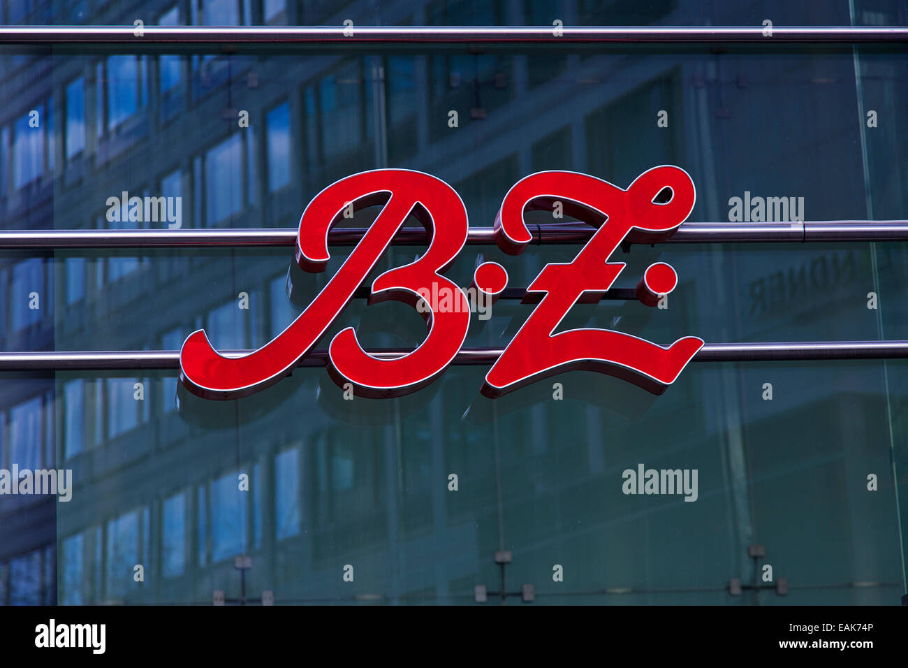 Logo of the B.Z. tabloid newspaper, Charlottenburg, Berlin, Berlin, Germany Stock Photo