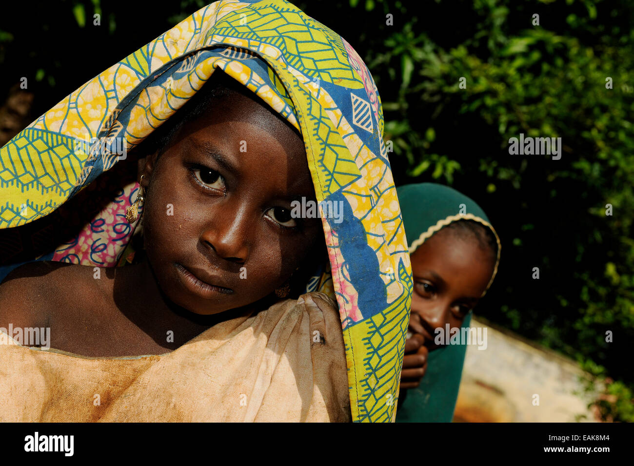 Young girl from the village of Idool, Idool, Adamawa Region, Cameroon Stock Photo