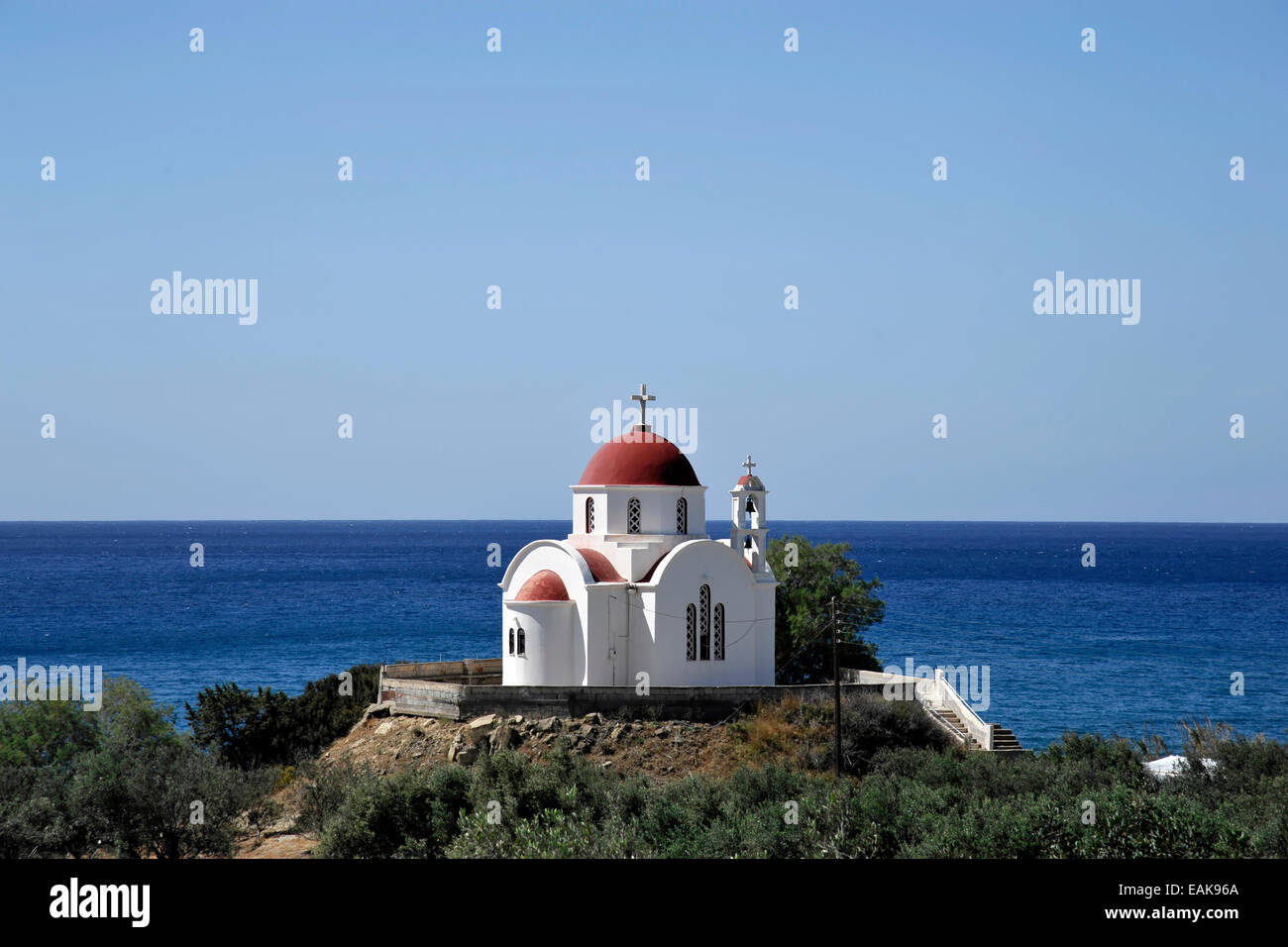 Church of Nea Mirtos, Mirtos, Crete, Greece - Stock Image