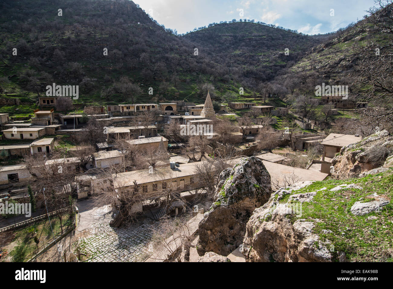 Townscape of Lalish, Lalish, Iraq - Stock Image