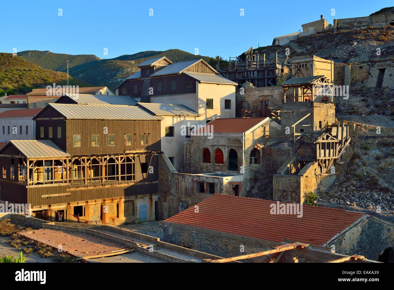 Dilapidated mining settlement, Argentiera, Sassari Province, Sardinia, Italy - Stock Image