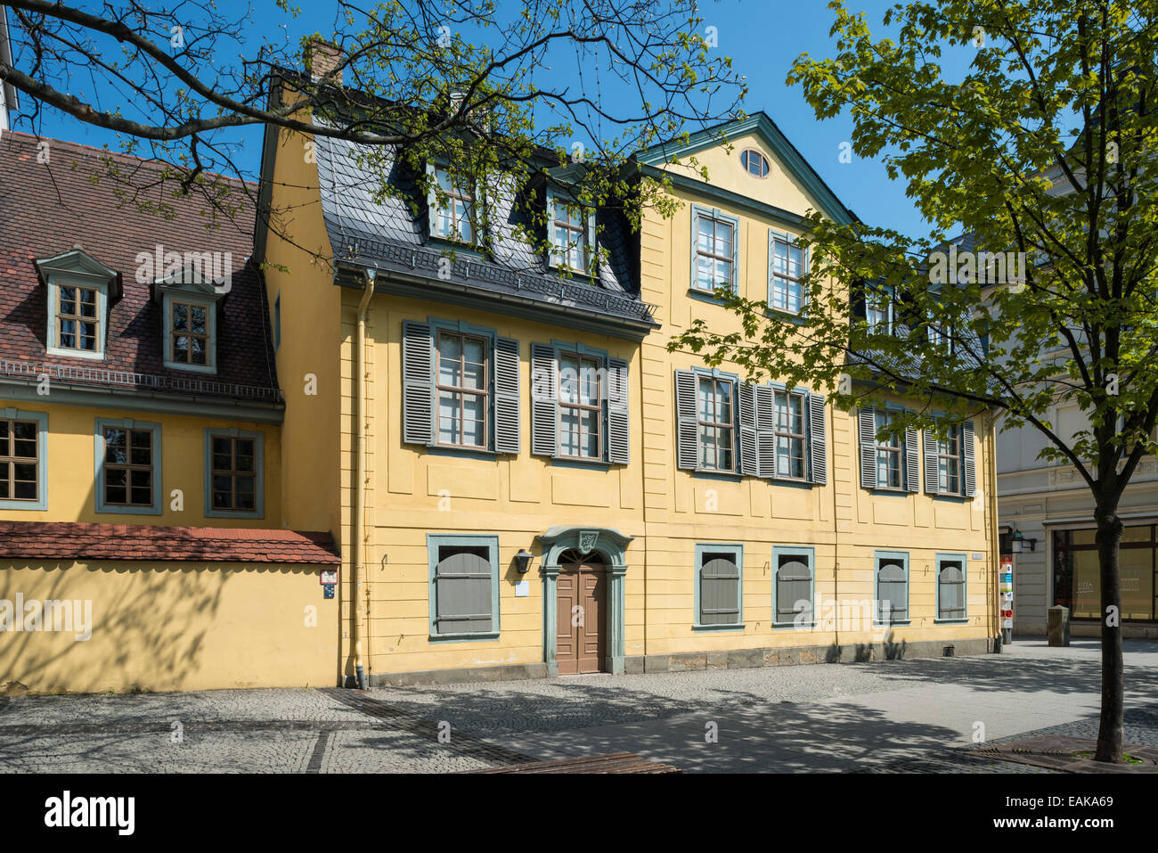 House of Friedrich Schiller, Weimar, Thuringia, Germany - Stock Image