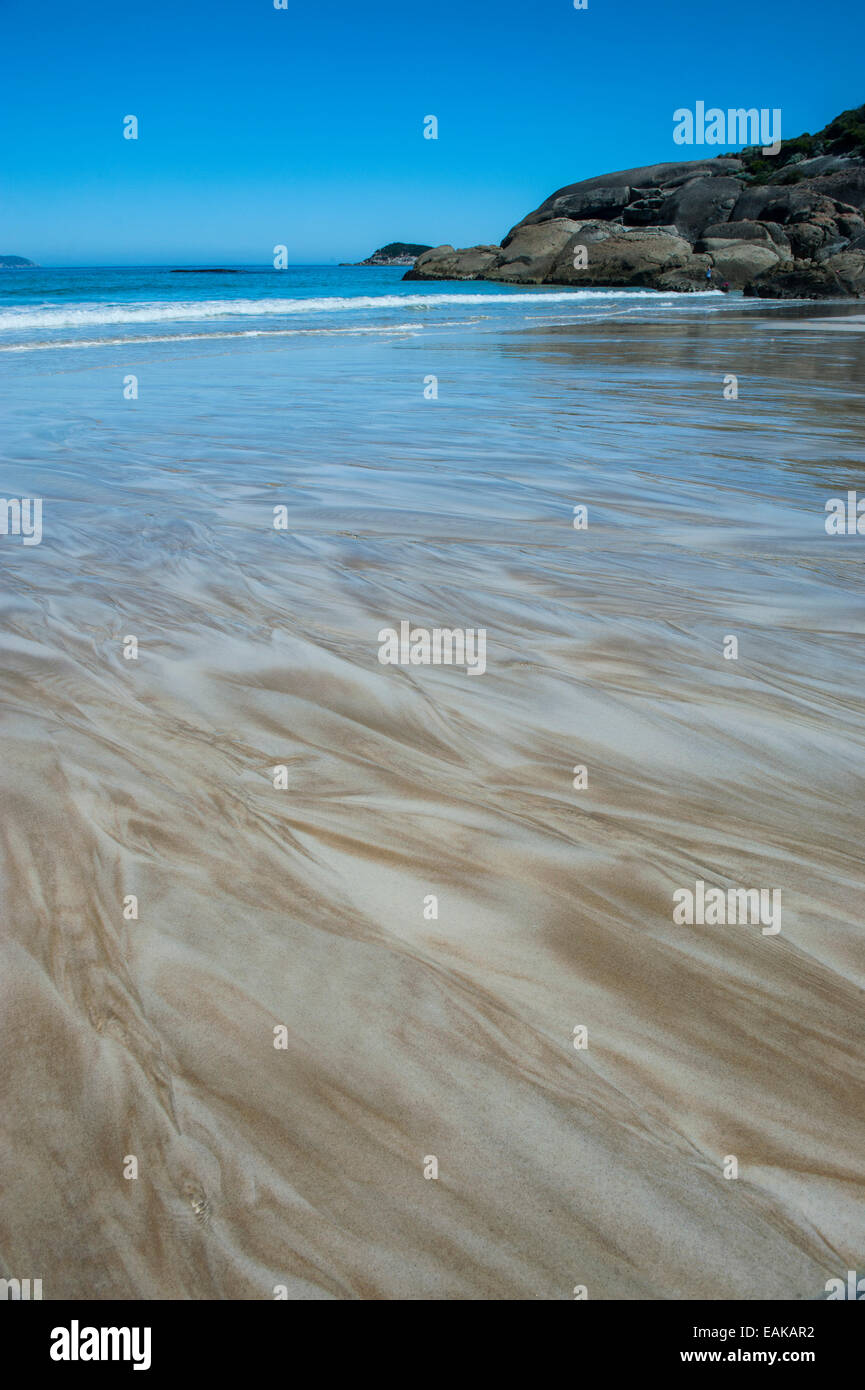 Sand structures, Wilsons Promontory National Park, Victoria, Australia - Stock Image