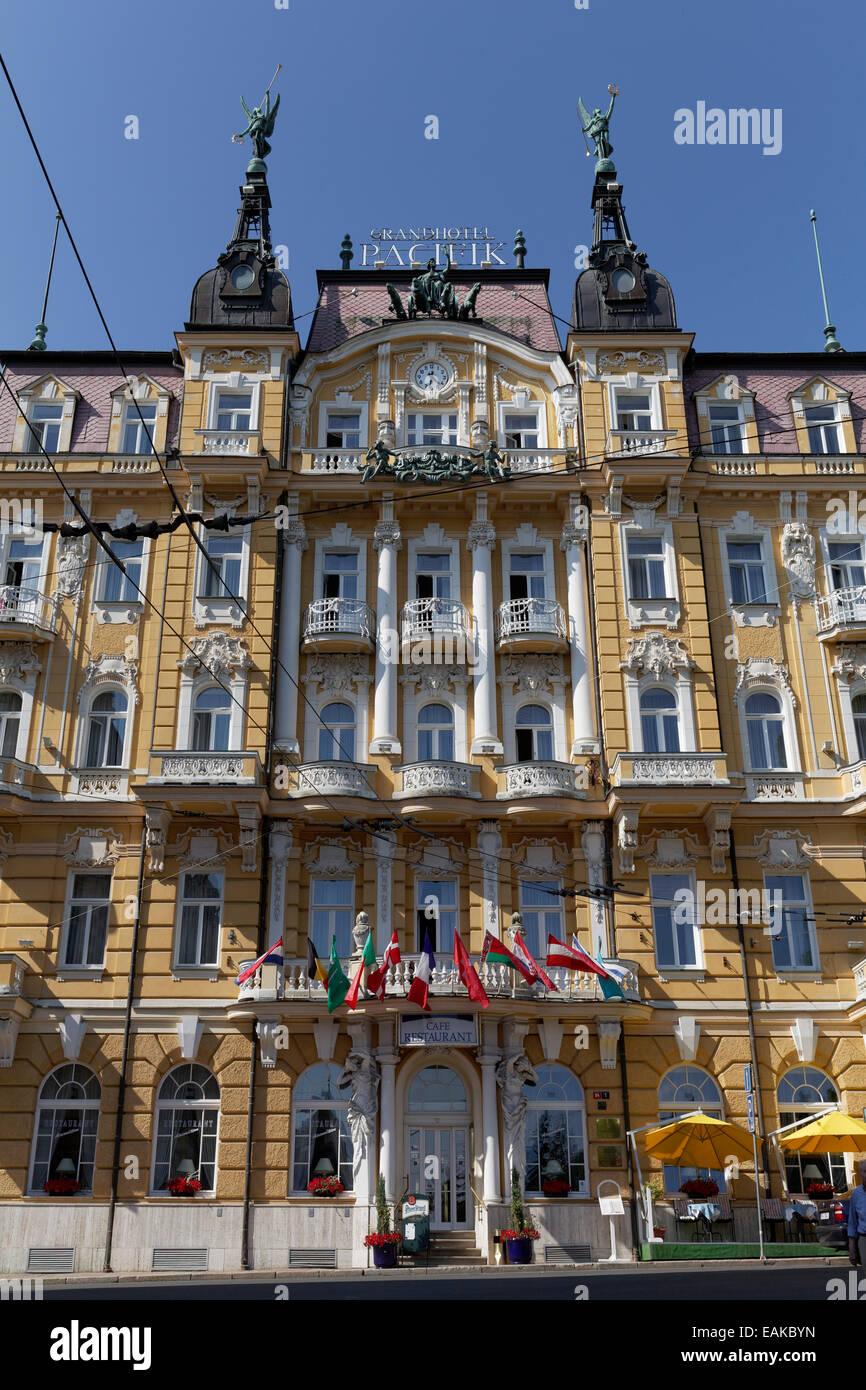 Grand Hotel Pacifik, Mariánské Lázně, Karlovy Vary Region, Bohemia, Czech Republic - Stock Image