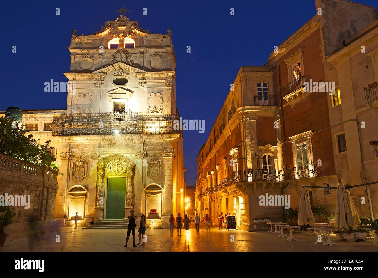 Historic town centre, Ortygia, Syracuse, Province of Syracuse, Sicily, Italy - Stock Image