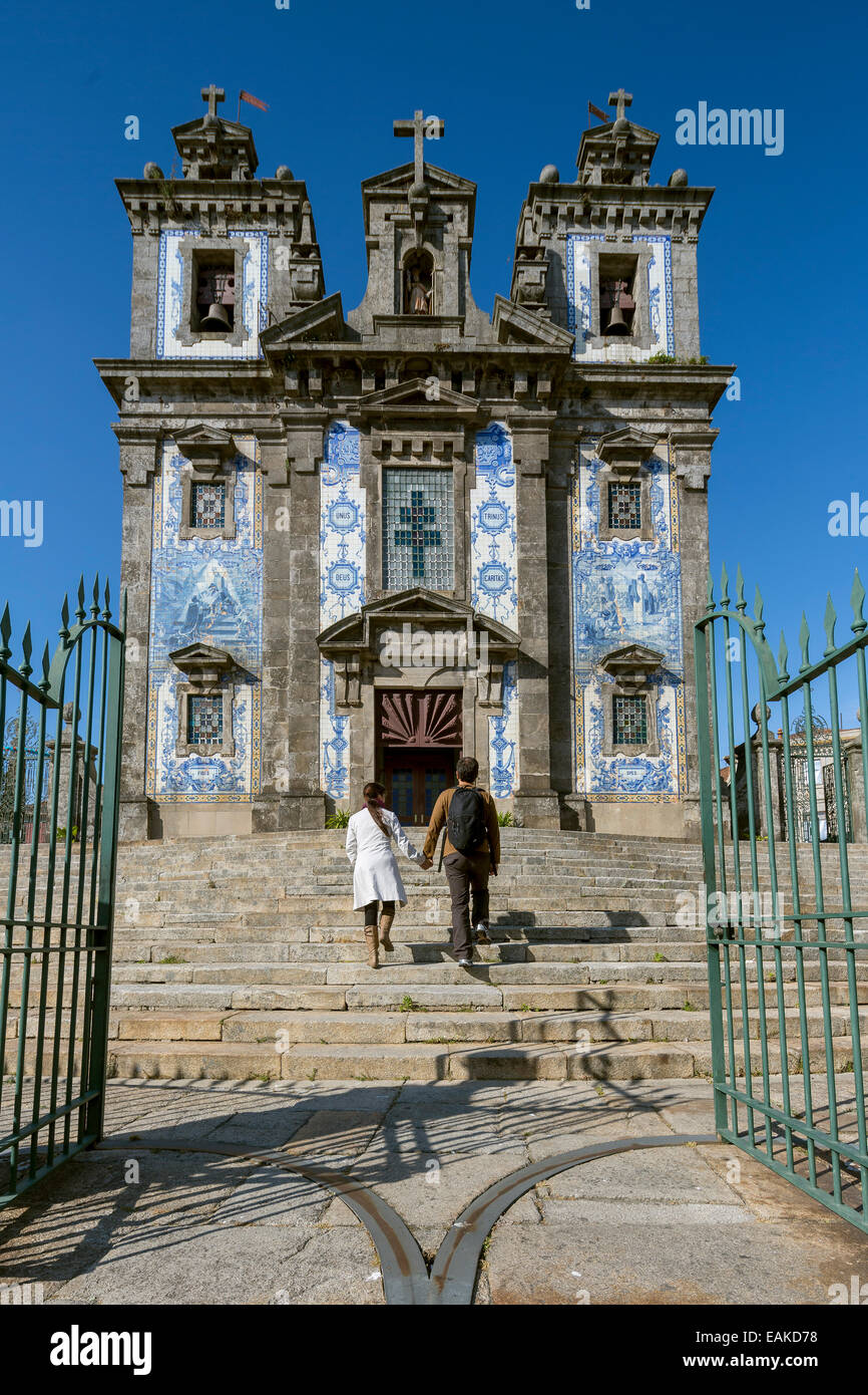 Igreja de Santo Ildefonso, Church of St. Ildefonso, Porto, District of Porto, Portugal - Stock Image
