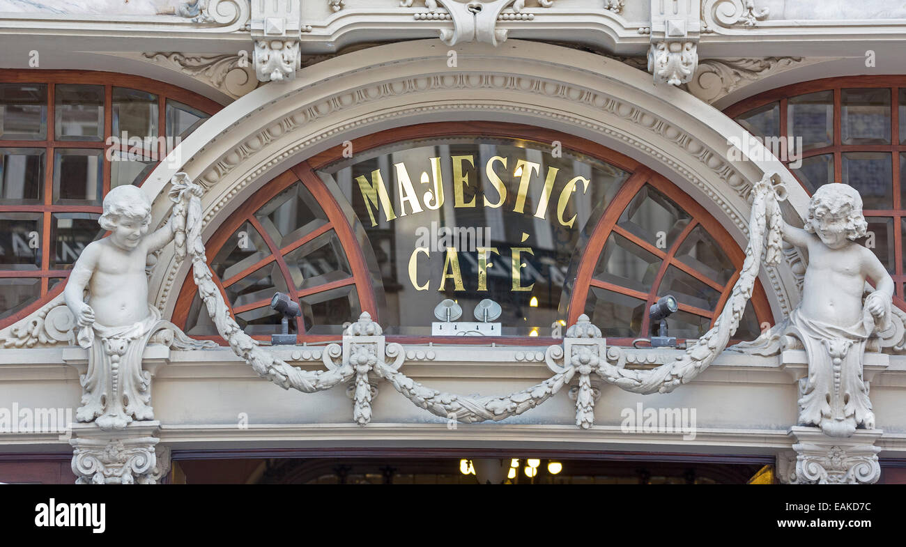 Café Majestic, Art Nouveau cafe, Porto, District of Porto, Portugal Stock Photo