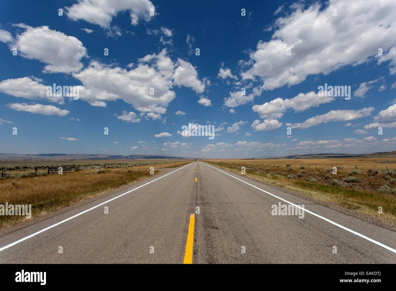 Highway no. 89, near Livingston, Montana, United States - Stock Image
