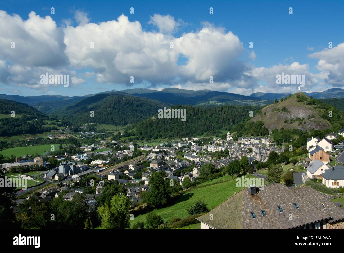 Town of Murat, Cantal, Auvergne, France, Europe - Stock Image