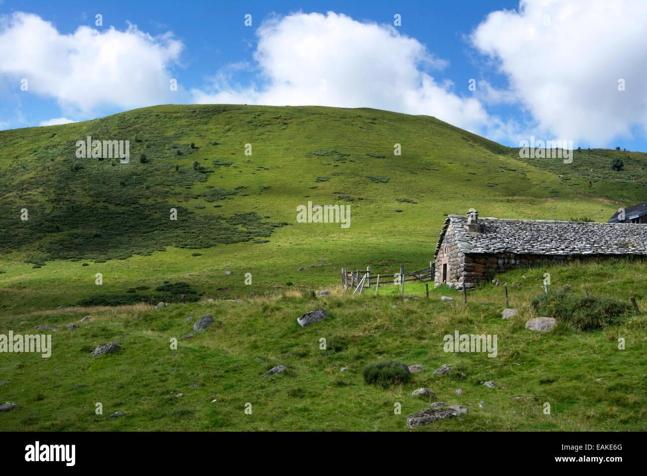 Buron. Prat de Bouc. Cantal. Auvergne. France - Stock Image
