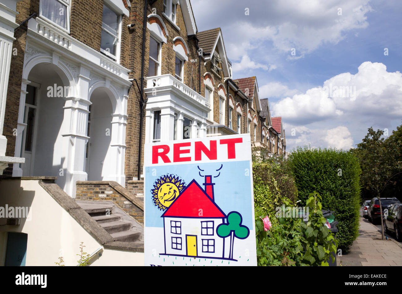 For rent sign, London, England, UK - Stock Image